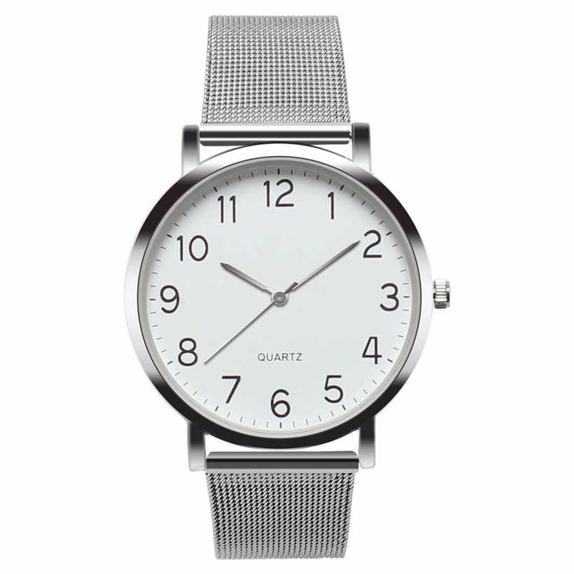 New Fashion Silver Mesh Band Wrist Watch Casual Women Stainless Steel Analog Quartz Watches Gift Relogio Feminino Drop Shipping