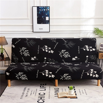 Spandex fabric Armless Sofa Bed Cover Universal size slipcovers stretch covers cheap Couch Protector Elastic bench Futon Cover