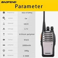 מכשיר הקשר (2 PCS) Baofeng UHF מכשיר הקשר BF-A5 16CH VOX + מערבל פונקציה משלוח חינם שני הדרך רדיו (5)