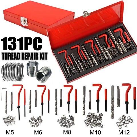 131 pcs kit ferramenta de reparo do fio bloco do motor restaurar danificado m5 m6