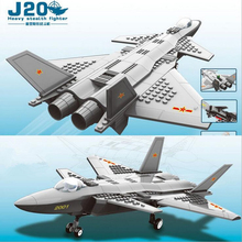 Hot Counter Strike Special air Force military J20 Stealth fighter building block compatible with legoes toys for kids
