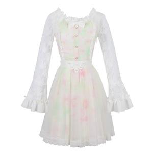 Image 5 - เจ้าหญิงหวาน lolita ชุด Candy rain ฤดูใบไม้ร่วงใหม่หวาน Hollow out พิมพ์เจ้าหญิงชุดลูกไม้ยาวชุด C16CD6146