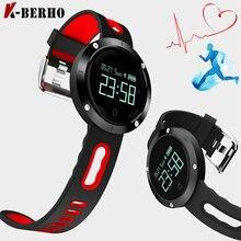 DM58 Смарт-фитнес браслет Часы Приборы для измерения артериального давления браслет вызова remnider сердечного ритма Мониторы IP67 Водонепроницаемый Смарт-часы