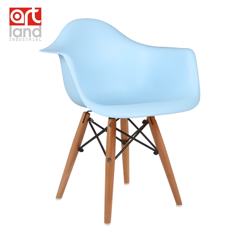 children's chair,Armchair,Plastic side chair with beech wood legs Dining chair leisure chair cheap free shipping door to door