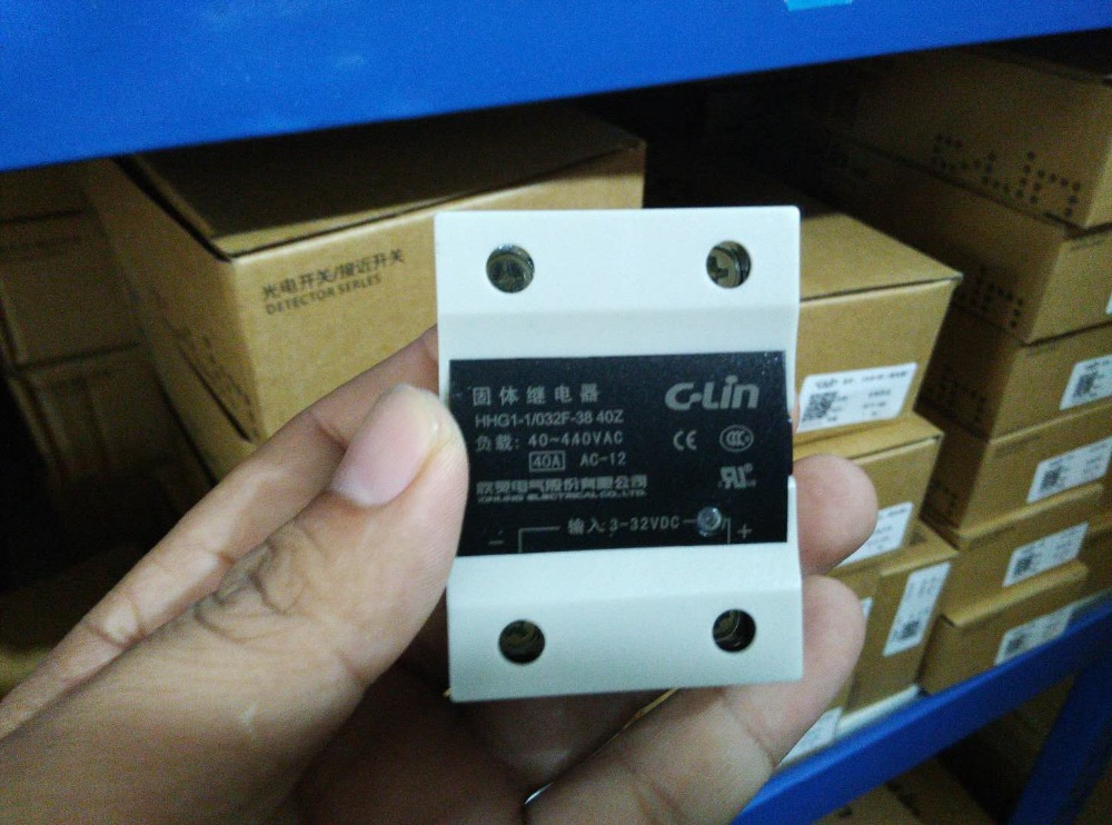 Brand new original authentic C-Lin HHG1-1/032F-38 40Z Single Phase DC Control AC SSR-DA Solid State Relay 40ABrand new original authentic C-Lin HHG1-1/032F-38 40Z Single Phase DC Control AC SSR-DA Solid State Relay 40A