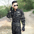 Camouflage Military Uniform Men Black military camouflage uniform tactical suit army uniform Jacket + Cargo Pants for Male