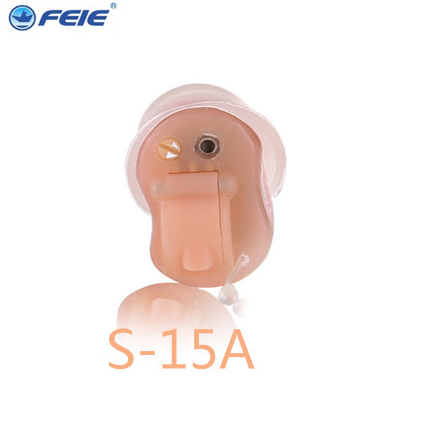 Instant Fit Quality Digital CIC Invisible Hearing Ear Aid Aids Sound Amplifier With 4 channel  S-15A DropShipping ear tools cic hearing aid digital invisible hearing aids s 51 for mild hearing loss aparelho auditivo hot selling