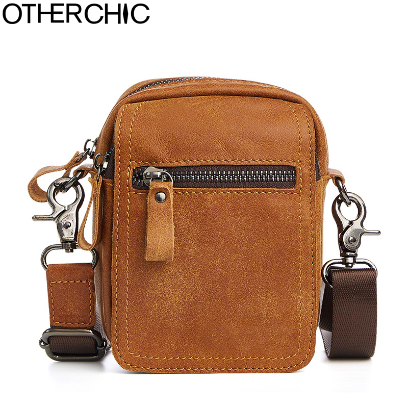 OTHERCHIC Brand Men's Waist Packs  High Quality Mini Shoulder Bags Vintage Mens Messenger Bags For Men 17Y05-24