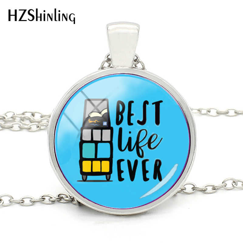 2018 New Arrival Best Life Ever Necklace JW Org Pendant Necklace Glass Dome Cabochon Accessory Handmade Jewelry for Gift