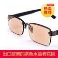 Темно-коричневый мода очки для чтения анти усталость в восточно-китайском море кристалл очки бренд высокого класса LaoGuang очки