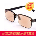 Dark brown fashion reading glasses anti fatigue in the east China sea crystal glasses brand high-grade LaoGuang glasses