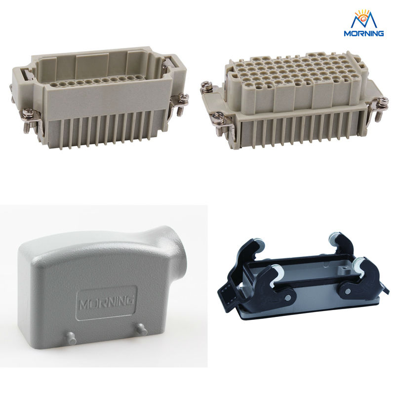 HDD-072, A Whole Set Industrial Crimp Terminal Copper Alloy Side Entry 72 Pins Current 10A Voltage 250V Heavy Duty Connector