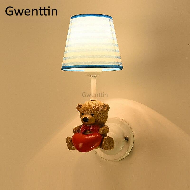 Cartoon Animal Wall Lamps Led Sconce Modern Wall Lights for Children's Room Kids Baby Bedroom Bathroom Lamp Lighting Fixtures