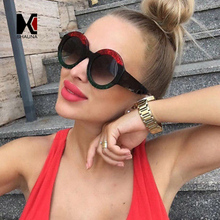 SHAUNA New Arrival Pearl Effect Trichromatic Frame Women Round Sunglasses Fashion Men Gradient Lens Shades UV400