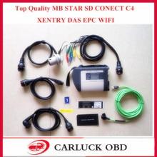 De Calidad SUPERIOR MB Estrella C4 Sd Conecta MB Estrella Compacta Multi-langauge C4 Con WIFI Para Coches/Camiones Multiplexor MB star C4 sin HDD