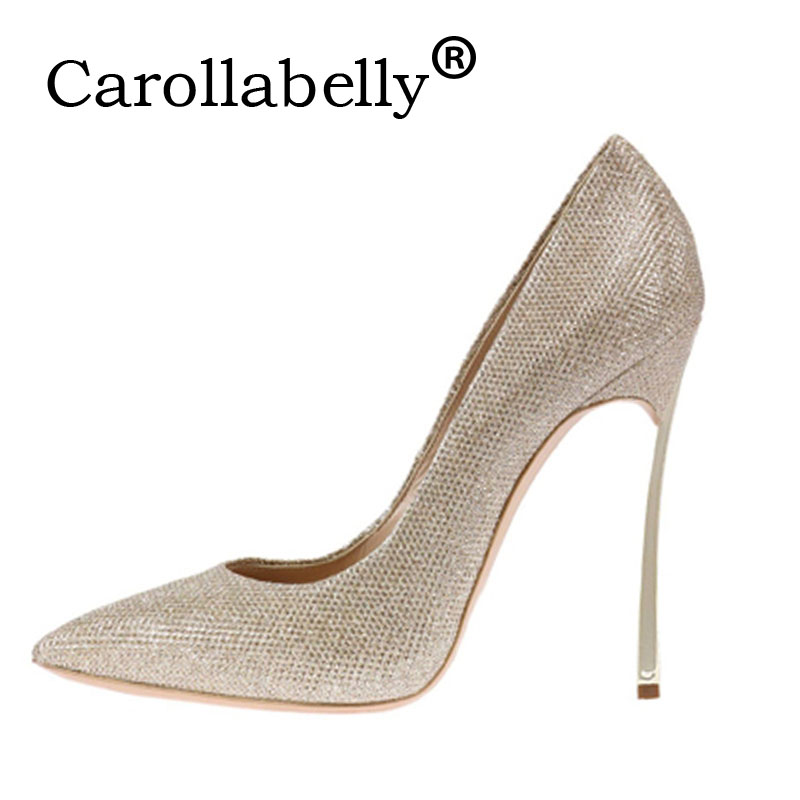 Carollabelly Women Shoes High Heels Pumps PU Leather 10CM High Heels Gold Wedding Shoes Sexy Party Shoes Woman High Heels PumpsCarollabelly Women Shoes High Heels Pumps PU Leather 10CM High Heels Gold Wedding Shoes Sexy Party Shoes Woman High Heels Pumps