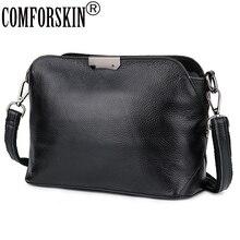 كومفورسكين جلد البقر الأوروبية الأمريكية المؤنث حقيبة ساع العلامة التجارية مصمم حزام واحد المرأة سعة كبيرة عبر الجسم حقائب