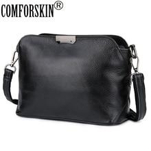 COMFORSKIN Cowhide European American Feminine Messenger Bags Brand Designer Single Strap Women Large Capacity Cross body Bags