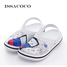ISSACOCO Slippers Men Shoes Holes Shoes Sandals Men Hole Slippers Sandals Men Breathable Beach Shoes Terlik Pantuflas Chinelo padegao men s shoes slippers dc