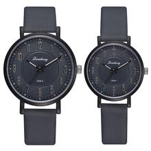 Hot Fashion Classics Black Leather Lover's Watches Geometric