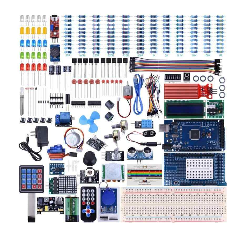 Mega2560 UNO Kit for Arduino with Tutorials, Complete Starter Kit wholesale  with box