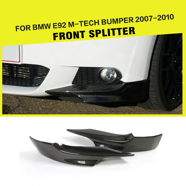 US $87 57 13% OFF|Front Splitters Flags Lip for BMW 3 Series E92 325i 328i  330i M Sport Bumper 2007 2009 Car Styling Carbon Fiber-in Bumpers from