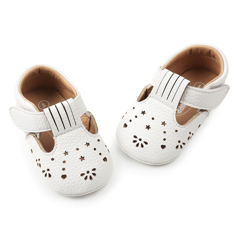 Baby Girl Princess Leather Shoes Hollow Out Fashion Toddler First Walkers Kid Shoes Slippers Prewalker Shoe