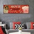 Винтажный знак кинотеатр, постеры и принты, настенные художественные картины в стиле ретро, Картина на холсте, домашний кинотеатр, декор сте...