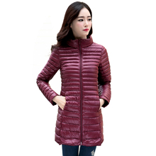 2016 New Women Winter Coat Ultralight Slim 90% White Duck Down Jackets Plus Size Female Long Down Coat Portable Warm Outerwear
