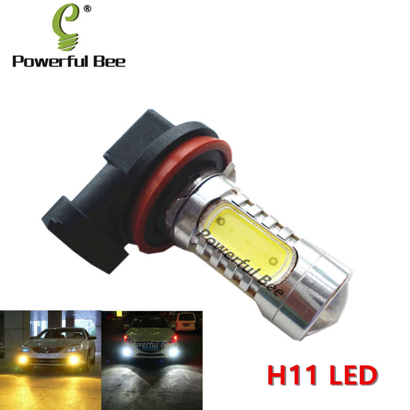 2 x H11 15W LED yellow amber cold white ice blue fog lamp DRL lights bulb for Outback 2002-06 Focus 2009-12 cars