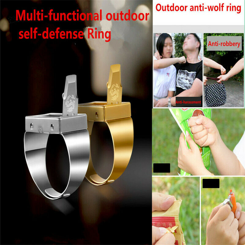 Free Shipping Ring Self-defense Female Self-defense Outdoor Anti-harassment Men's Multi-tool Ring Men Toy
