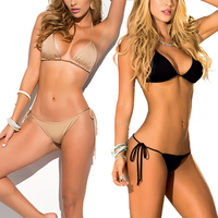 High Quality String Two Piece Thong Bikini Brand Sexy Fashion Solid Muti Clolor Women Bikinis 2016
