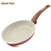 20cm Non Stick Skillet Copper Griddles Grill Pans Round Shape Cooking Pan Professional Frying Pan Induction