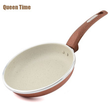 8 Inch Non-stick Skillet Copper Griddles & Grill Pans Round Shape Cooking Pan Professional Frying Pan Kitchen Tools Gas Cooker