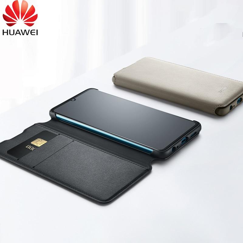 Huawei P30 Pro etui portefeuille Original officiel en cuir PU veille carte de réveil housse de Protection Huawei P30 étui P30 Pro Flip housse - 3