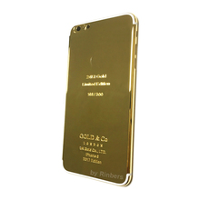For iPhone 6 PLUS 24K 24KT 24CT GOLD imited Edition Metal Back Cover Housing Middle Frame Replacement Like for iPhone 7 Style
