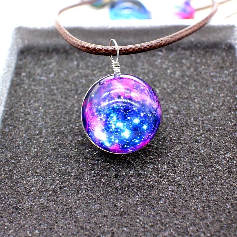 HTB1PcnVNVXXXXaXXFXXq6xXFXXXu - New Stars Ball Glass Collares Duplex Planet Crystal Galaxy Pattern