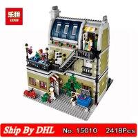 Lepin Block 15010 Expert City Building Parisian Restaurant Building Blocks Bricks 2418Pcs Kits Toy Compatible Logolying 10243
