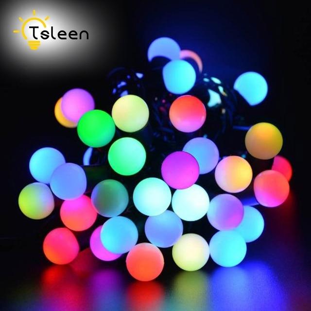 TSLEEN Solar Globe 50 LED Ball String Lights Solar Power Christmas Light  Patio Lights Lighting for - TSLEEN Solar Globe 50 LED Ball String Lights Solar Power Christmas