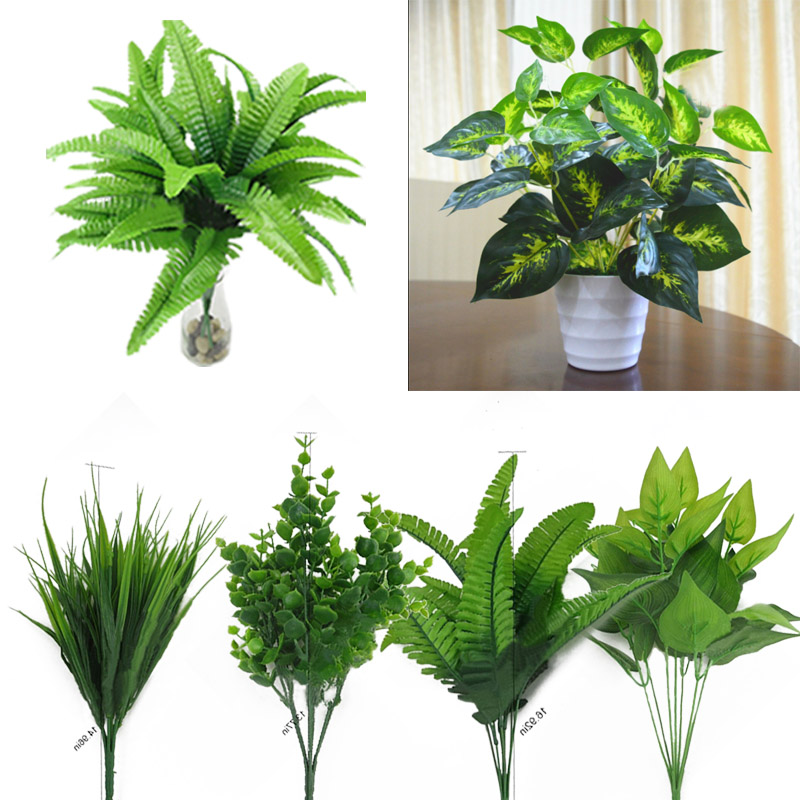 Plants Indoor Outdoor Fake Flower Leaf Foliage Bush Home Office