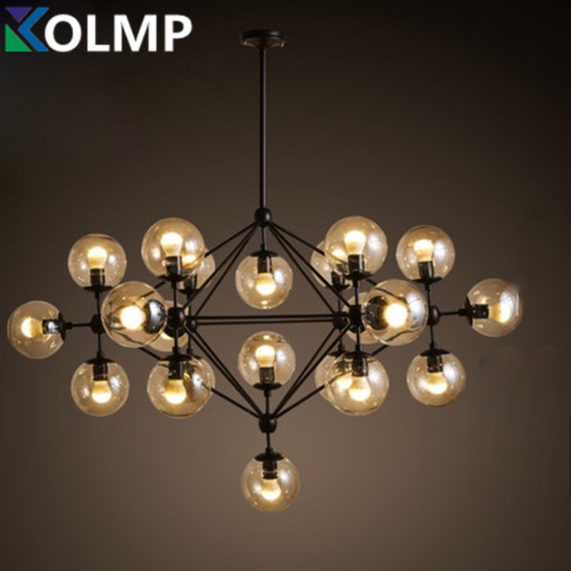 Creative glass pendant lamp led modo chandelier dining for Dining room 5 light chandelier