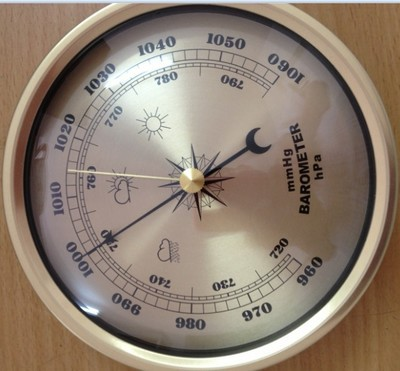 New 1pcs quality precision aneroid barometer 132mm for Barometer and fishing