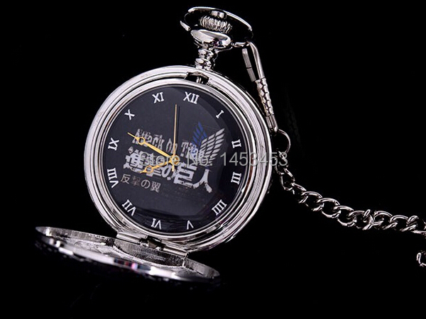Attack on Titan Pocket watch necklace Animation Wings of Liberty Survey Legion cosplay props