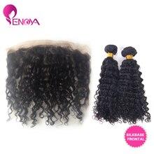 Malaysian Virgin Hair 13×4 Silk Base Closures Lace Frontal with Curly Hair Bundle 2pcs/lot