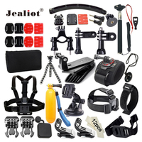 Jealiot Accessories Set For Gopro Helmet Harness Chest Belt Head Mount Strap For Hero 5 5S