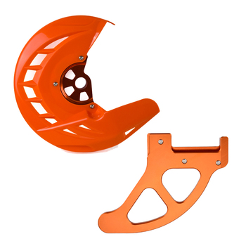 Front Rear Brake Disc Protector Guard for KTM SX SXF XC XCF EXC EXCF 125 250 350 450 525 530 200 300 400 505 2003-2014 2012 2013