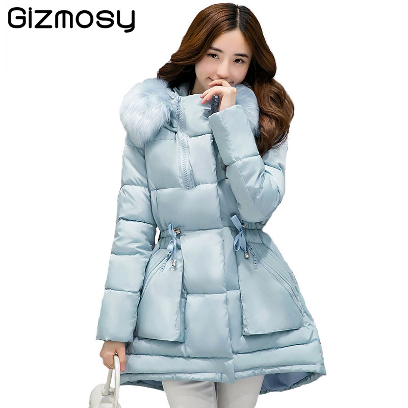 1PC Winter Jacket Women Hooded Cotton Padded Long Coats A-line Winter Coat Women Jaqueta Feminina Inverno Chaqueta Mujer BN1552 winter jacket women 2017 women winter coat long coats cotton padded hooded jacket plus size 4xl abrigos mujer cc088