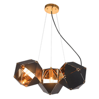 Modern LED Pendant Lights DNA black Hanging Kitchen Fixtures Lighting Hanglamp Foyer Avize Dining room Suspension Luminaire