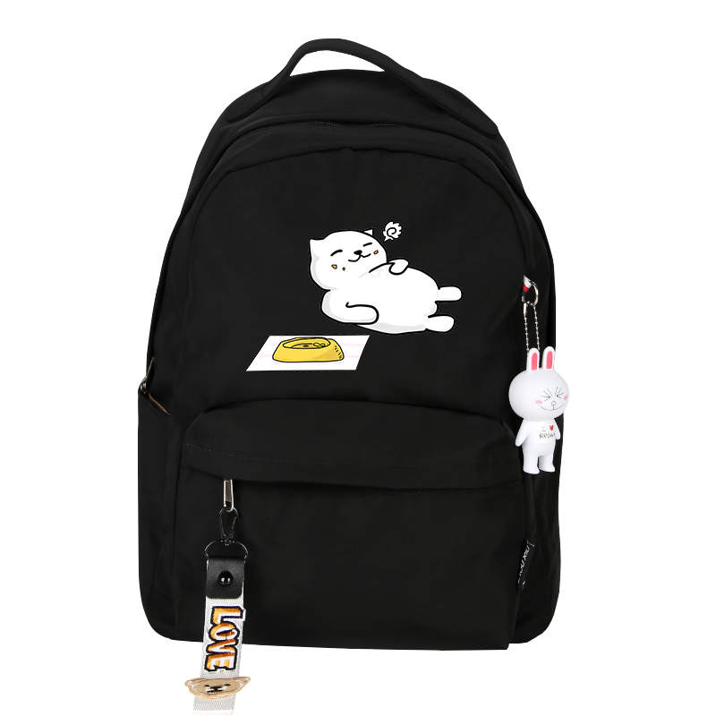 Image 4 - High Quality Neko Atsume Women Cat Backpack kawaii Cute Backpack Pink School Bags Cartoon Travel Backpack Laptop BackpackBackpacks   -