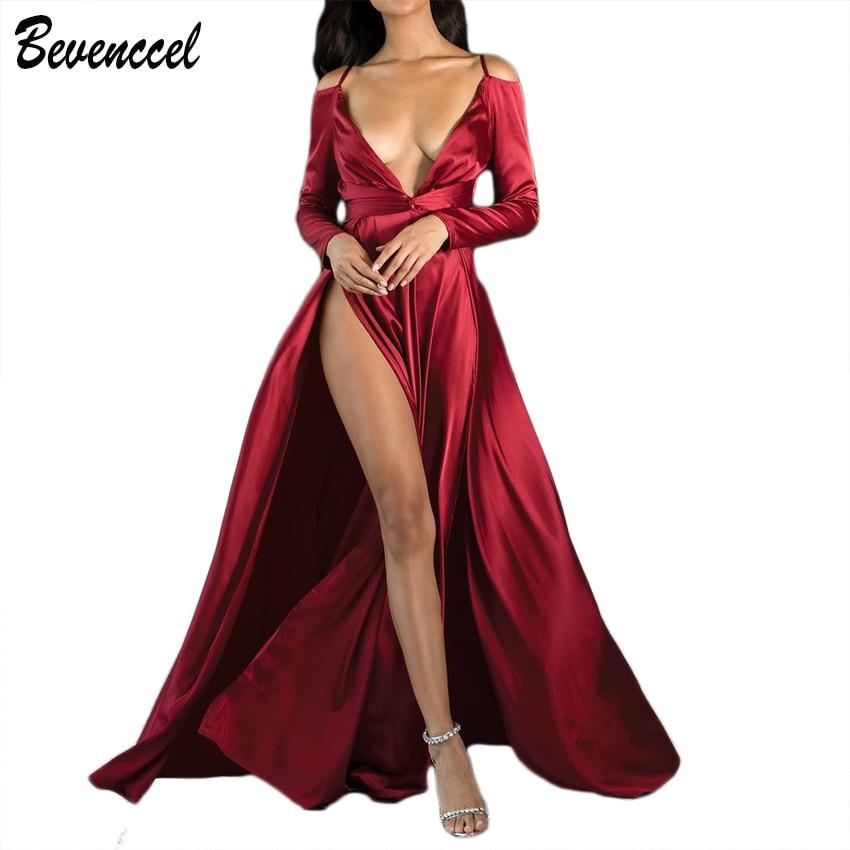 de5347325aae5 Robe-pour-femme-Piste-robes -verano-2019-Celebrity-tenue-de-f-te-manches-longues-Profonde-V.jpg
